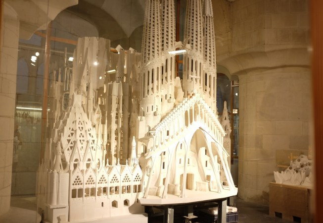 Model of the Sagrada Familia in the Museum