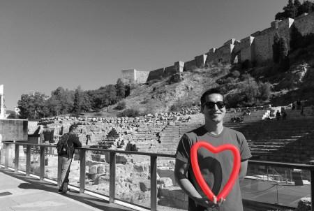 Malaga roman theater heart