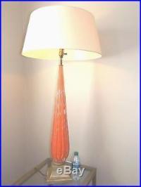 Mid Century Modern Orange Murano Glass Table or Floor Lamp ...