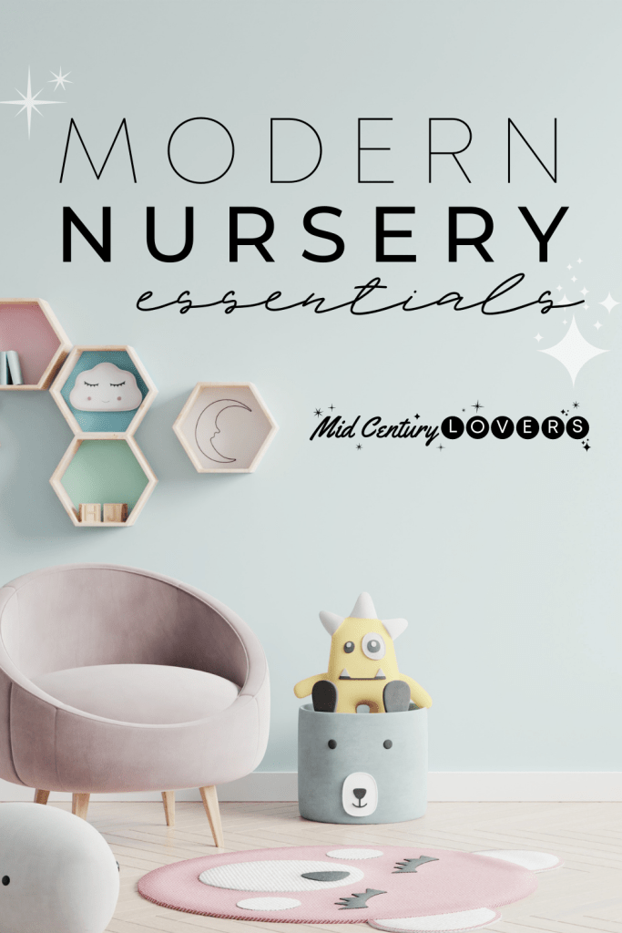 Baby's room incorporates the same classic, timeless style as the rest of your home with this gorgeous Mid Century Modern nursery furniture.
