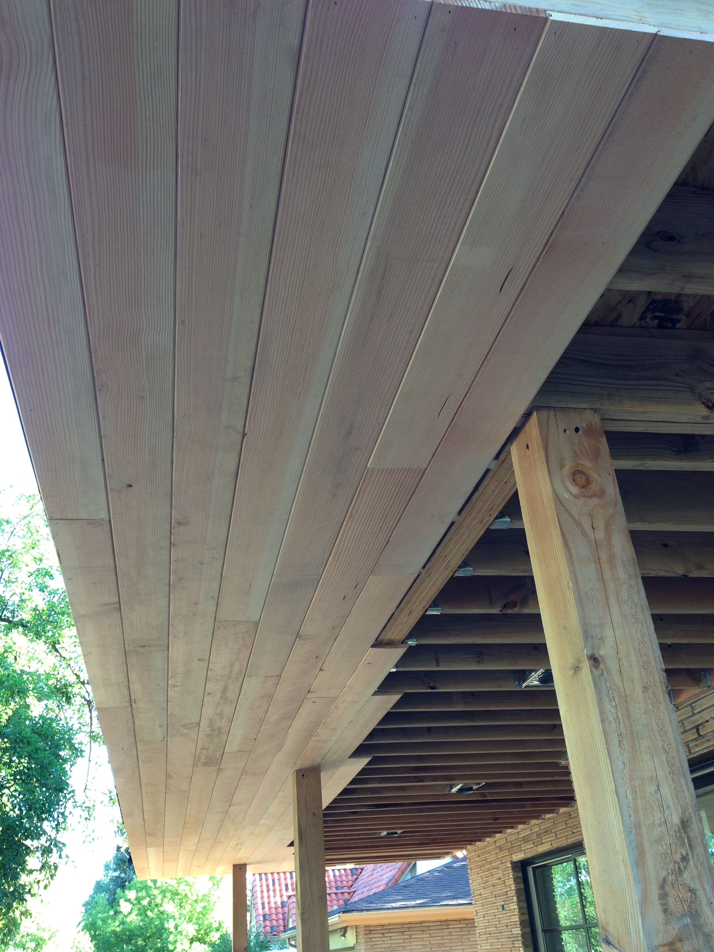 The Douglas Fir TG 4 soffits  midcenturymess