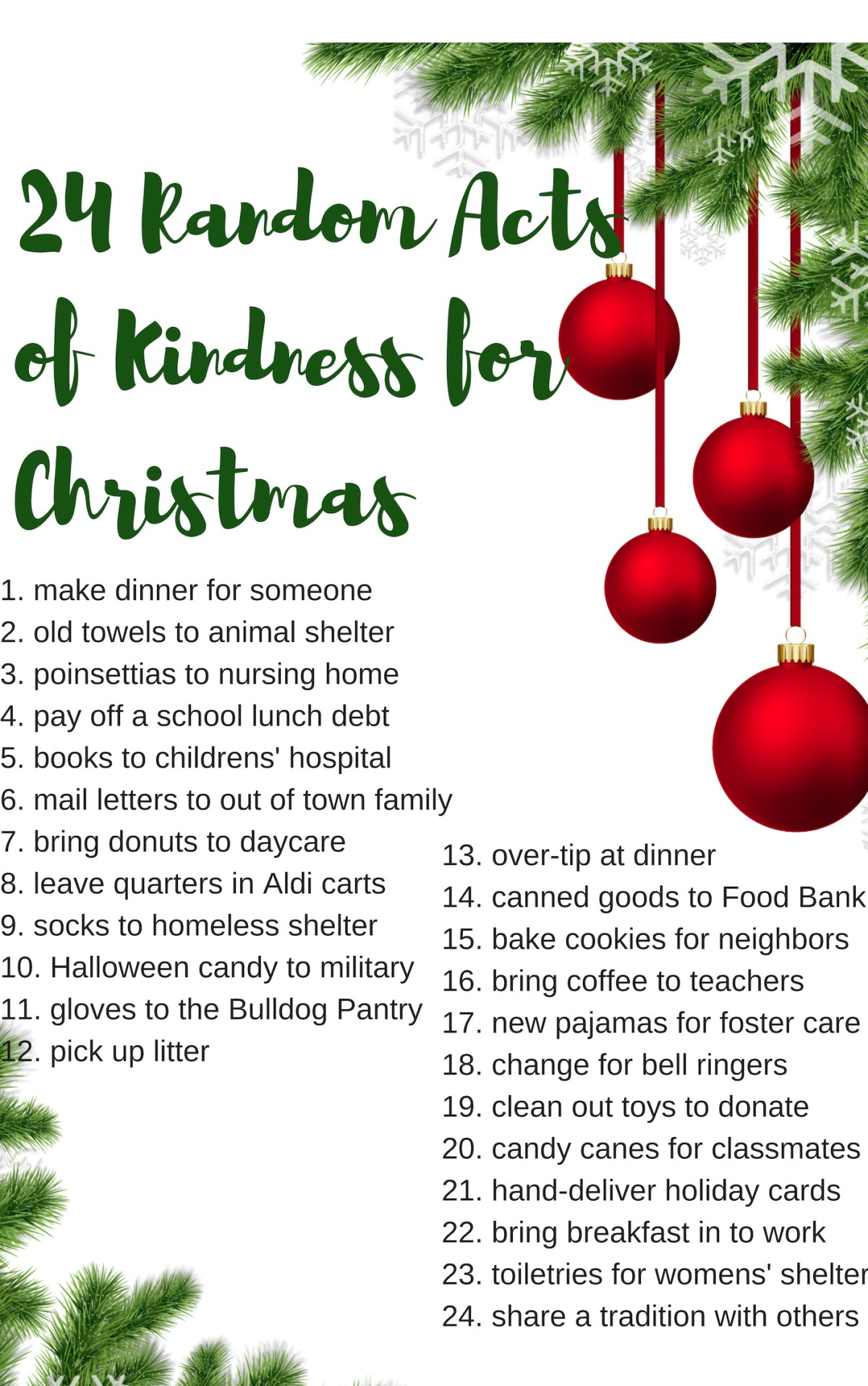 Christmas acts of kindness