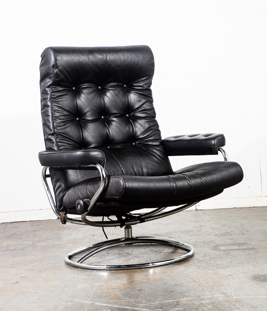 Danish Modern Lounge Chair Mid Century Modern Lounge Chair Black Leather Ekornes Recliner Norway Stressless Swivel Armchair Arm Danish Modern Baughman