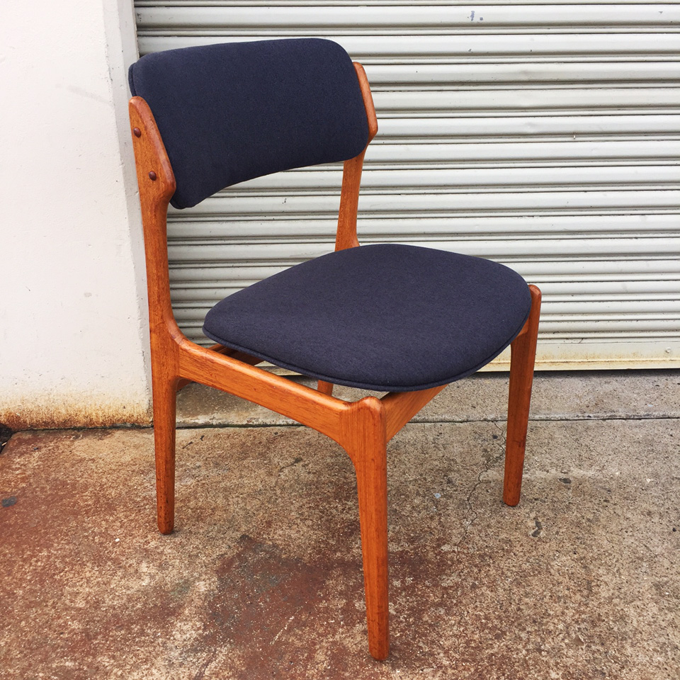 erik buck chairs dining with caning buch room ideas four teak midcenturysanjose