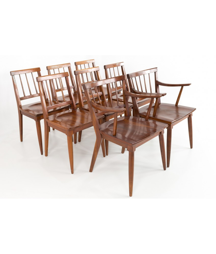 Paul Mccobb Chairs Paul Mccobb Style Mid Century Cherry Dining Chairs Set Of 8
