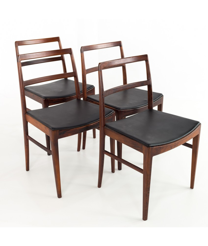 Dining Room Chairs Set Of 4 Arne Vodder For Sibast 430 Rosewood And Leather Dining Chairs Set Of 4