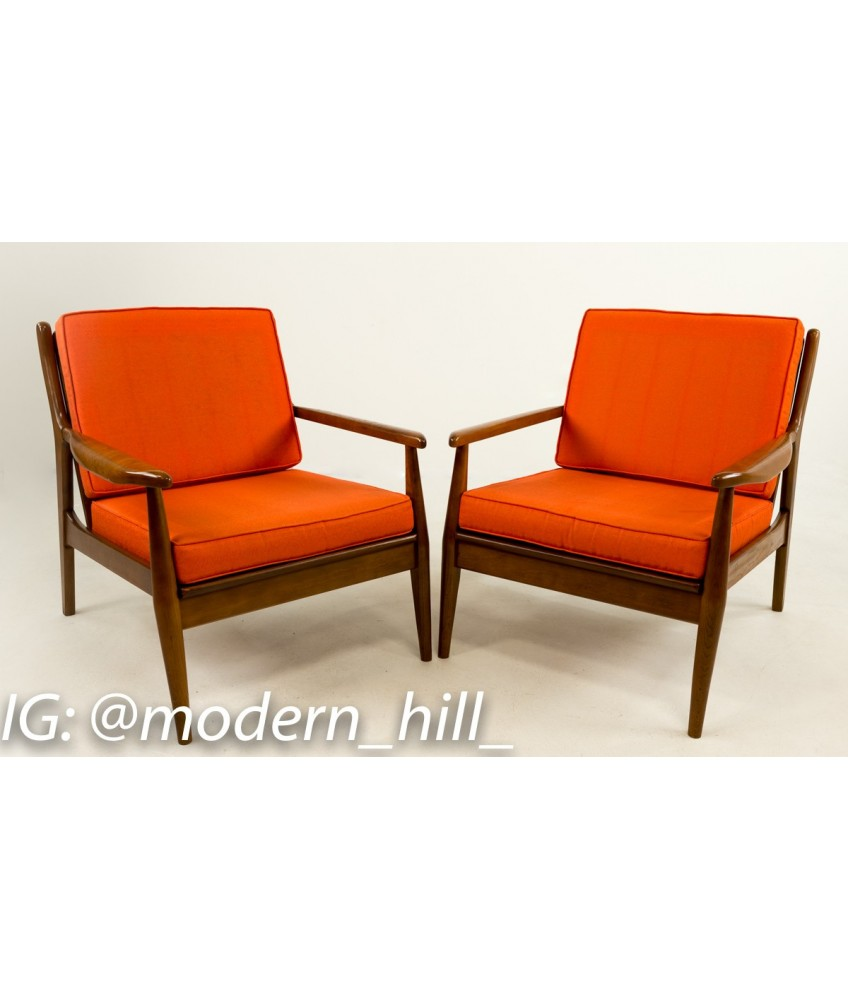 Danish Modern Lounge Chair Pair Of Milo Baughman Style Danish Modern Lounge Chairs