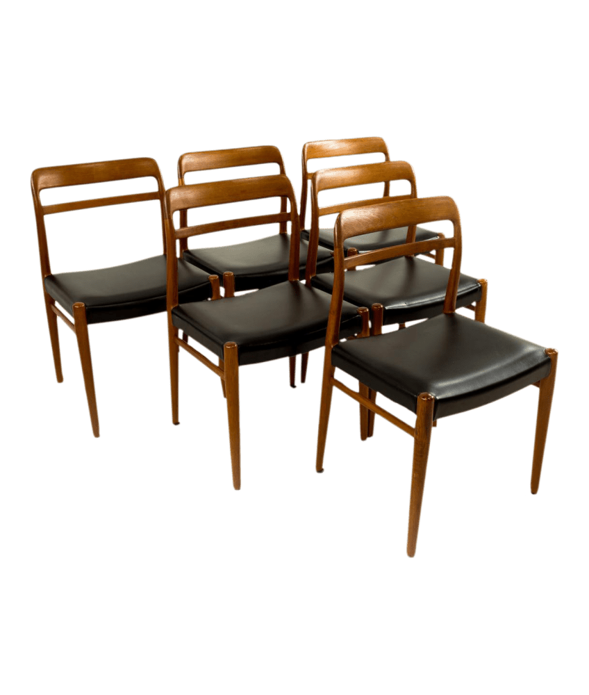 mid century dining chairs oversized beach danish teak set of 6