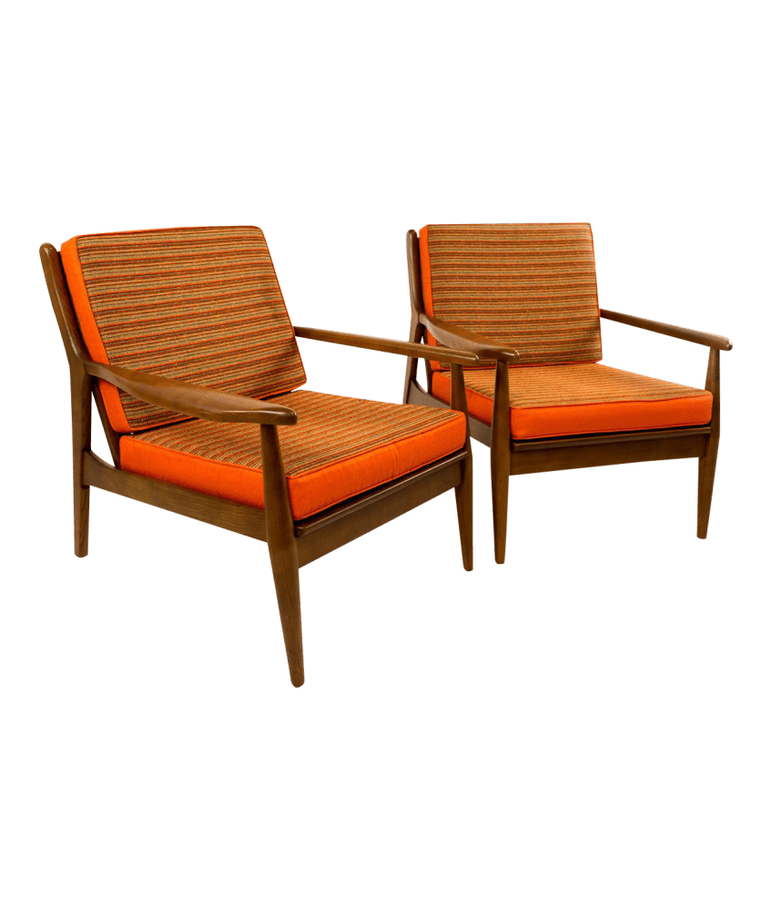 Danish Modern Lounge Chair Pair Of Danish Modern Lounge Chairs