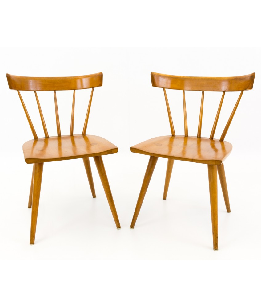 Paul Mccobb Chairs Paul Mccobb For Planner Group Dining Chairs Pair