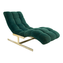 Pictures Of Chaise Lounge Chairs Chair Design Dimensions Milo Baughman Brass Base Tufted