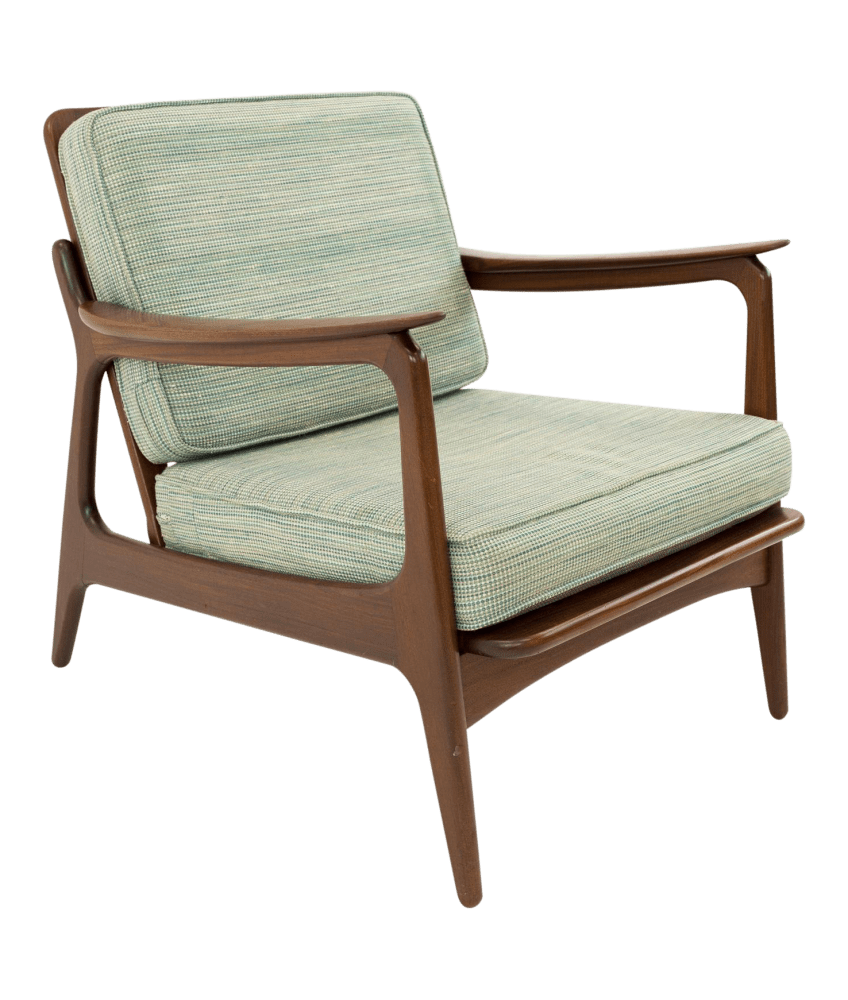 Danish Modern Lounge Chair Hans Wegner Style Mid Century Modern Lounge Chair