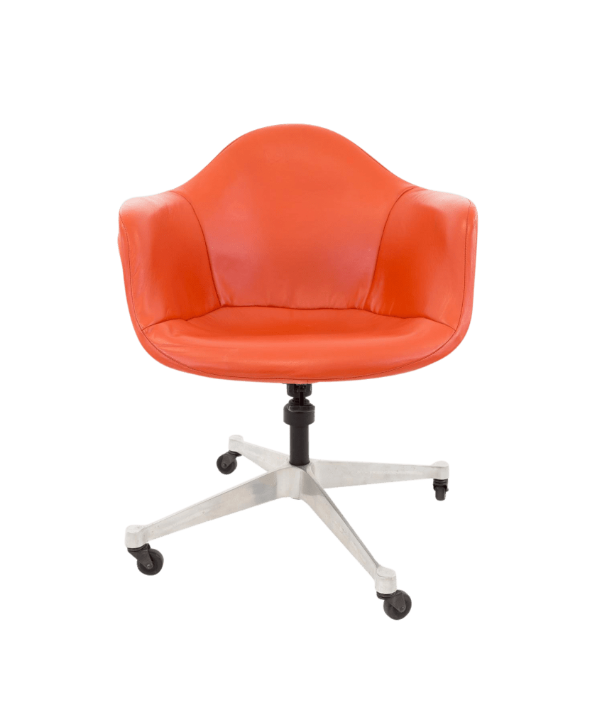 Red Desk Chair Early Charles Eames For Herman Miller Shell Desk Chair
