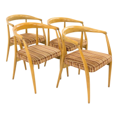 Mid Century Barrel Dining Chair Covers Gladstone Lawrence Peabody For Nemschoff Chairs