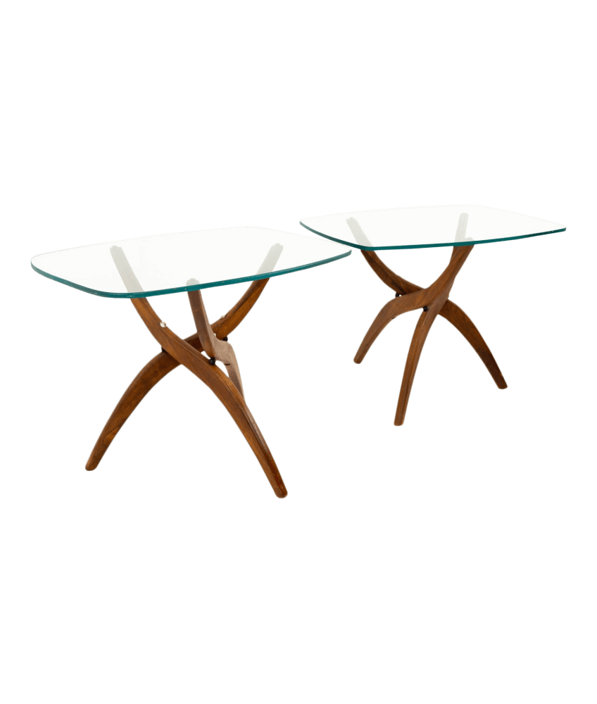 adrian pearsall style forest wilson mid century modern side end tables