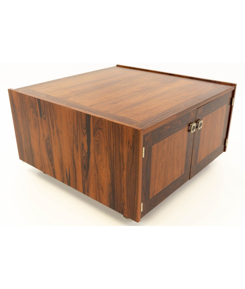 bornholm danish rosewood mid century storage square coffee side end table