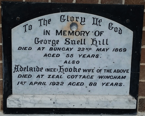 Plaque at St Matthew's Anglican Church, Wingham. Photo J Roberts, 2017.