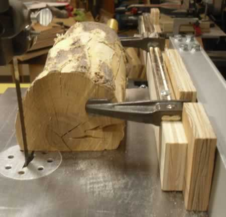 Bandsaw Jig For Cutting Logs
