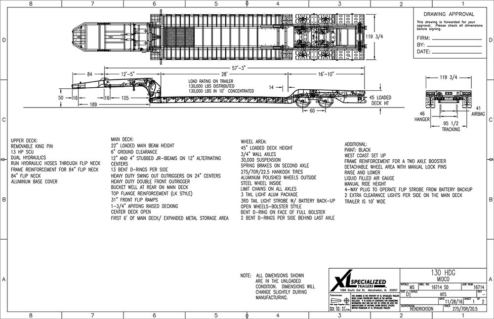 53 Foot Trailer Lights Wiring Diagram 2018 Xl Specialized 65 Ton Lowboy With Jeep Amp Booster