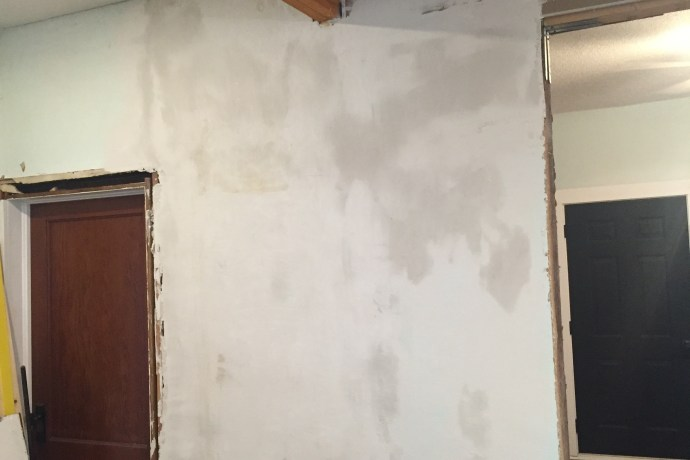 Plaster Mud Repeat Skim Coating The Ceiling And