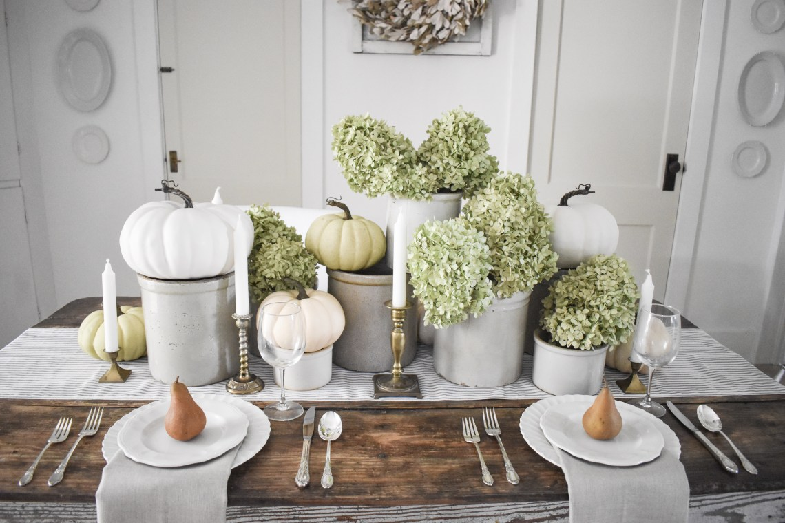 A Fall Tablescape Combining Nature and Vintage
