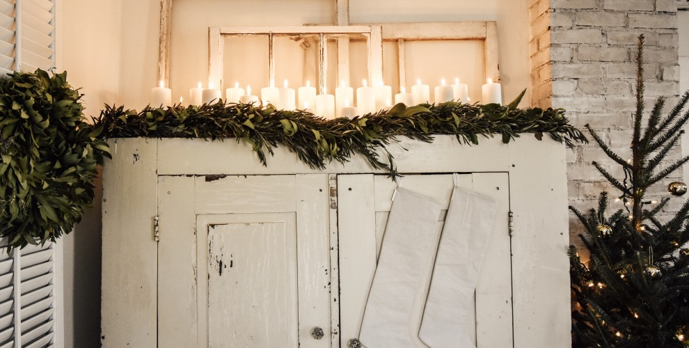 Christmas Cupboard Decor