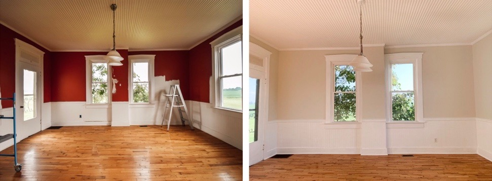 Farmhouse Living Room Paint Reveal