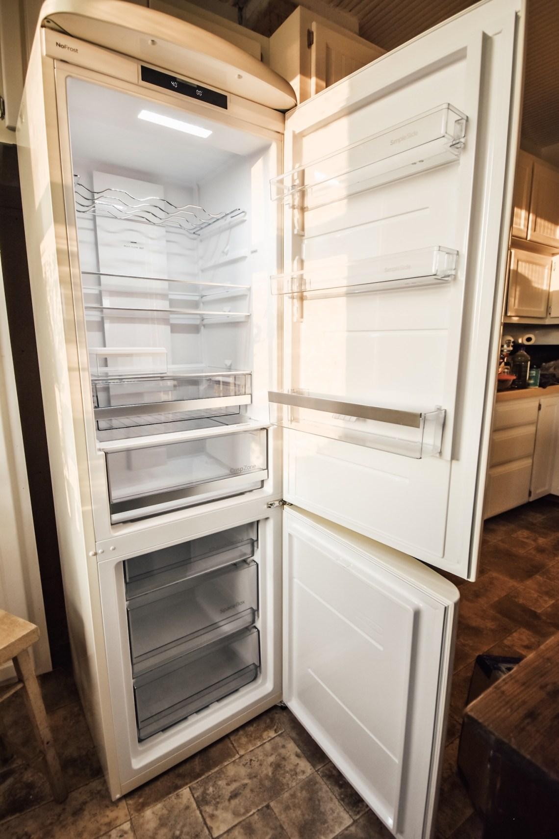 Inside Our New Vintage Inspired Refrigerator