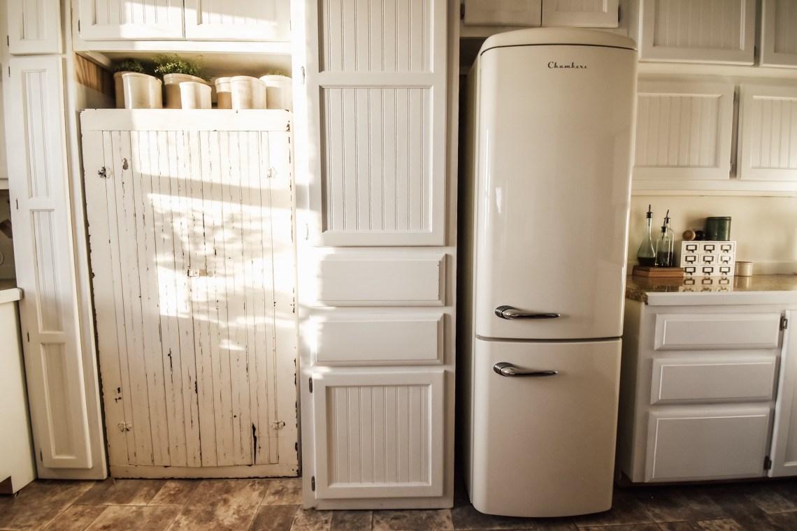 new vintage refrigerator