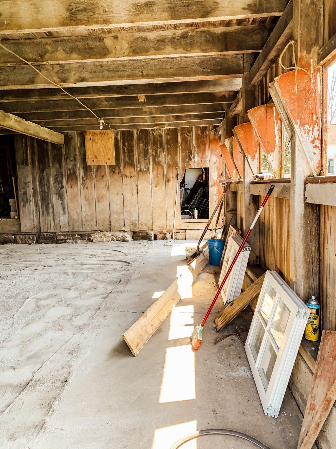 Barn Stable Ag Lime Floor and New Windows