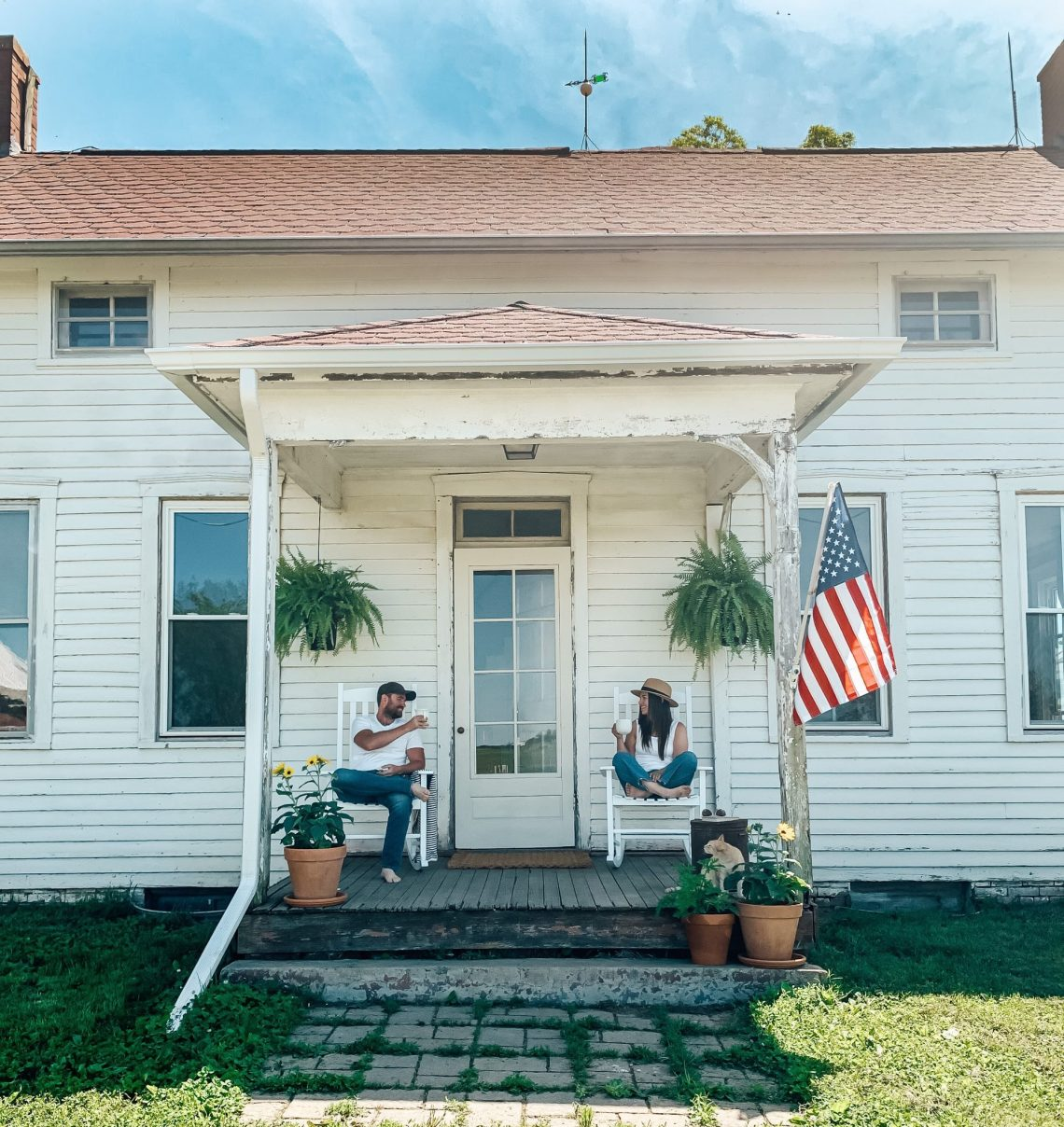 Summertime Farmhouse Front Porch