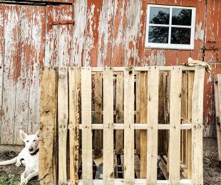 Easy, DIY Pallet Compost Bin