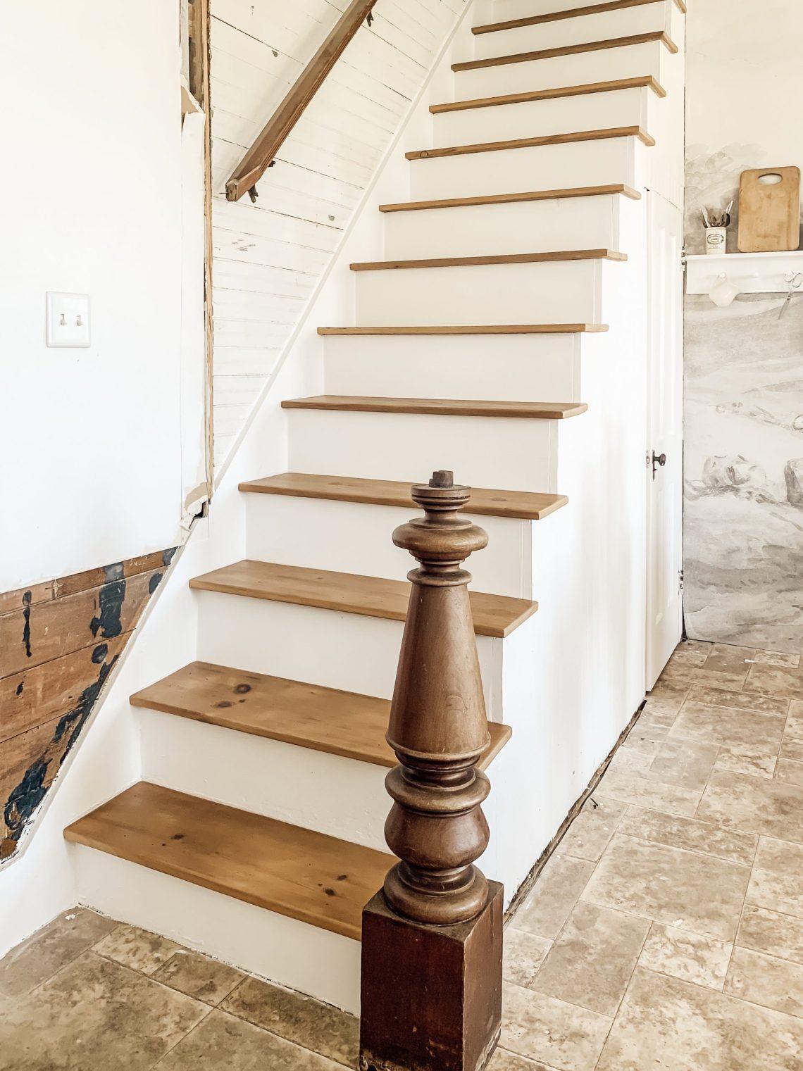 Farmhouse Staircase Renovation Progress