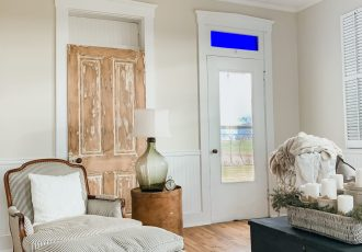 DIY Chippy Painted Doors