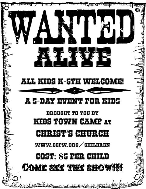 2013 Vacation Bible School: Wanted Alive