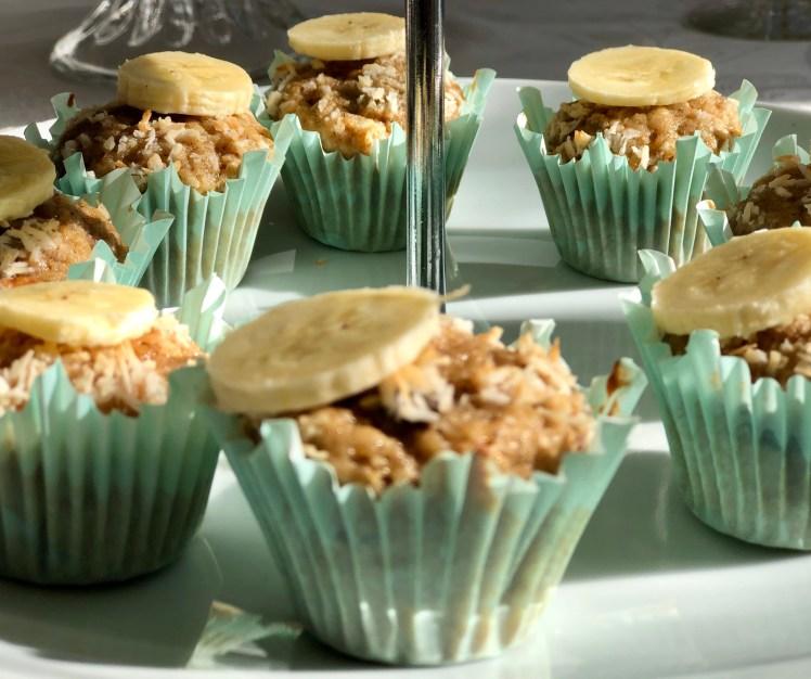 Bananmuffins banan muffins kokos minicupcakes