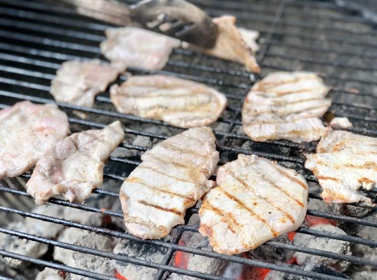 Recept febras grillat fläskkött tunna skivor skinkstek benfri kotlett