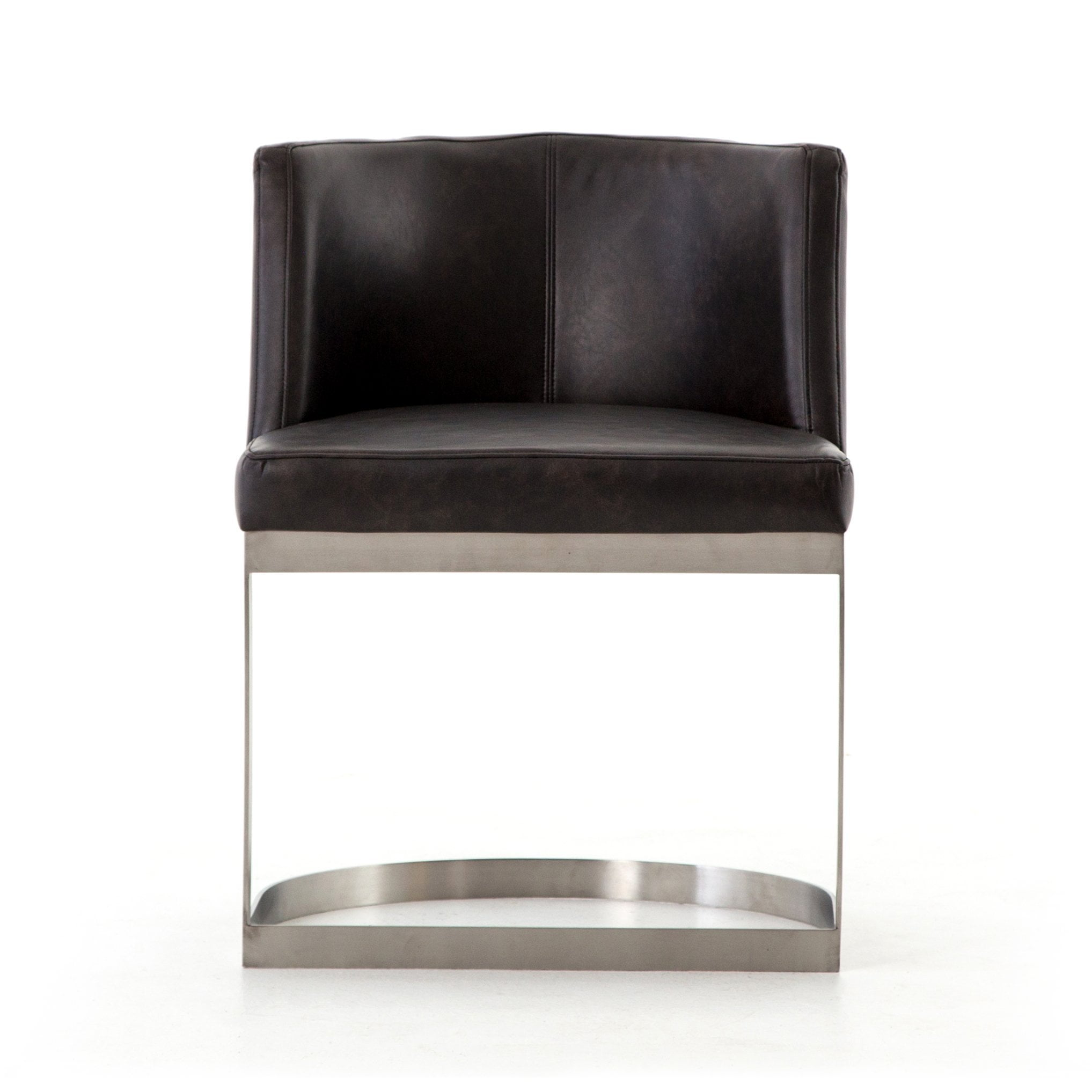 Wexler Dining Chair In Distressed Black Mid Decco