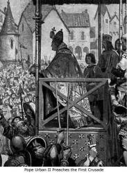 pope urban ii crusade clermont speech ages middle crusades preaching christianity calls council timetoast jersusalem france take calling 1095 timeline