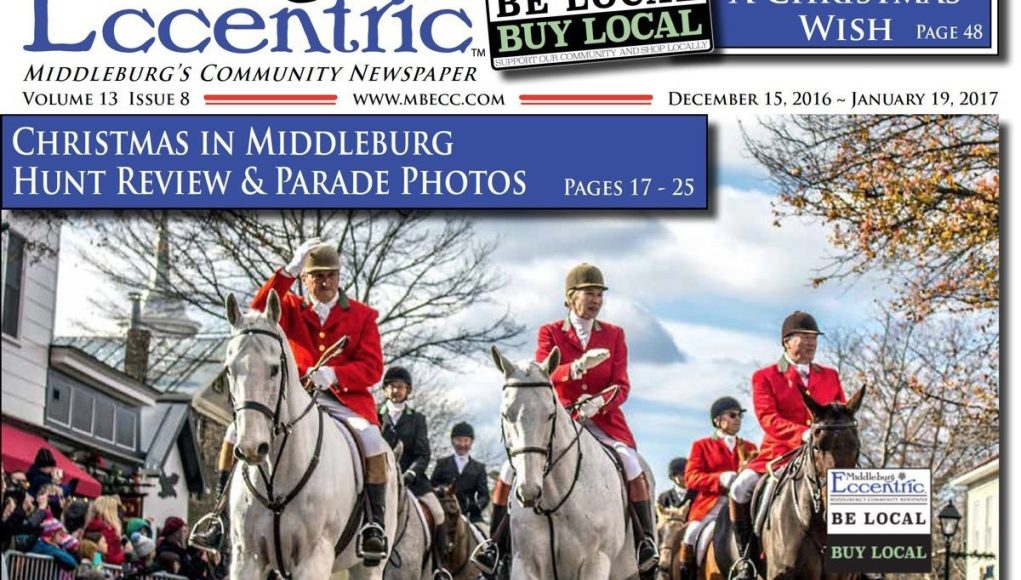 Middleburg Eccentric December 2016, Volume 13 Issue 8 Cover