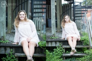 garden city senior portrait