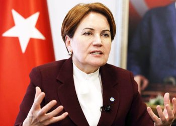 Turkey's Ivi (good) Party chairman Meral Aksener answers questions during an interview with AFP in Ankara/AFP