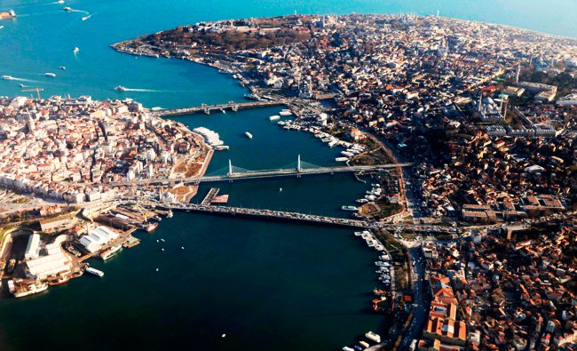 Aerial view of Istanbul . Turkey, AFP