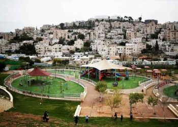 Israeli settlement of Modin Illit in the occupied West Bank in this March 27,2017/REUTERS