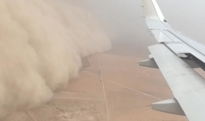 Sandstorms hit Kuwait. (Photo courtesy: social media)