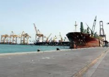 A vessel docked at Al-Hudaydah Port west of Yemen /REUTERS