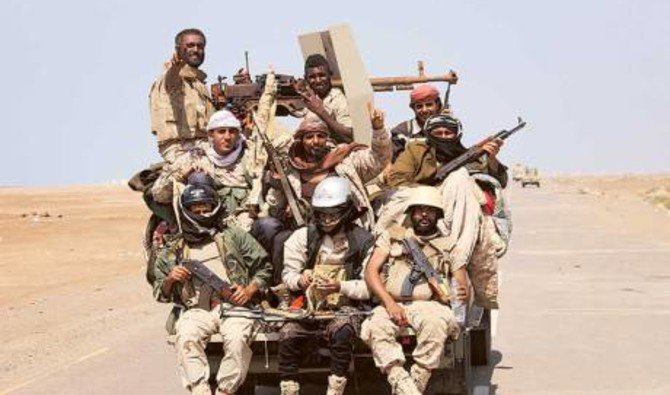 File photo showing Yemeni troops near Al-Mocha south of Yemen. (Reuters)