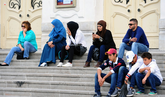 Many young Tunisians are enraged at being kept apart from a political scene that they think it is reserved for veterans from all political sides. (AFP)