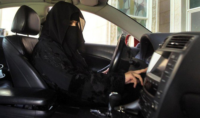 Above, a woman drives a car in Saudi Arabia in 2013. (Reuters)