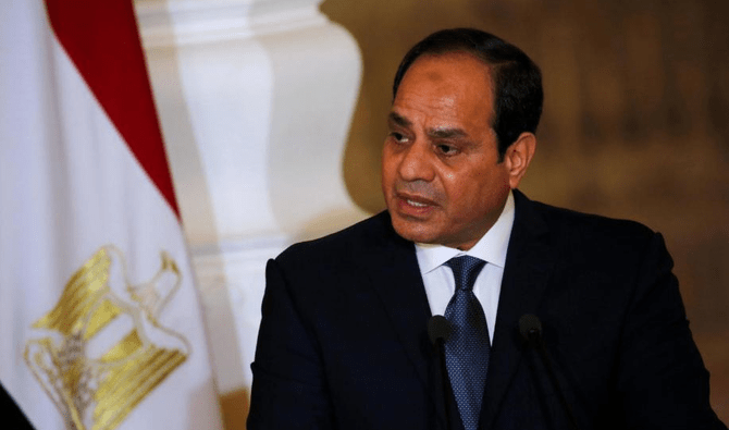 Egypt's President Abdel Fattah al-Sisi speaks during a news conference at the El-Thadiya presidential palace in Cairo, Egypt, March 2, 2017. (Reuters)